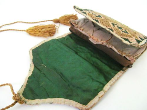 New-England-Flame-stitch-Sewing-Case-18th-Century; New England 18th century…