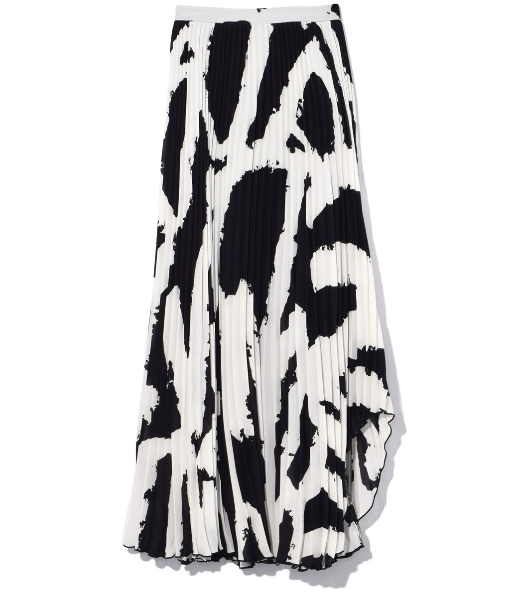 63ba0aa0b3 PROENZA-SCHOULER Black/White Pleated Skirt with Arched Hem. #proenza- schouler #cloth #