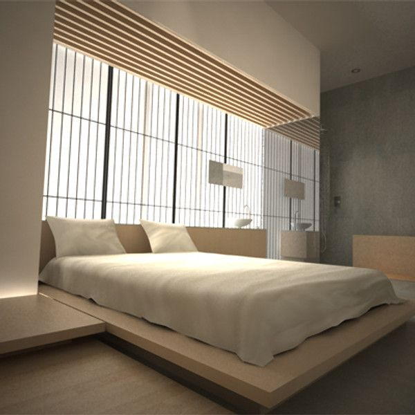 Max Contemporary Modern Japanese Bedroom 3d Model Dekorasi