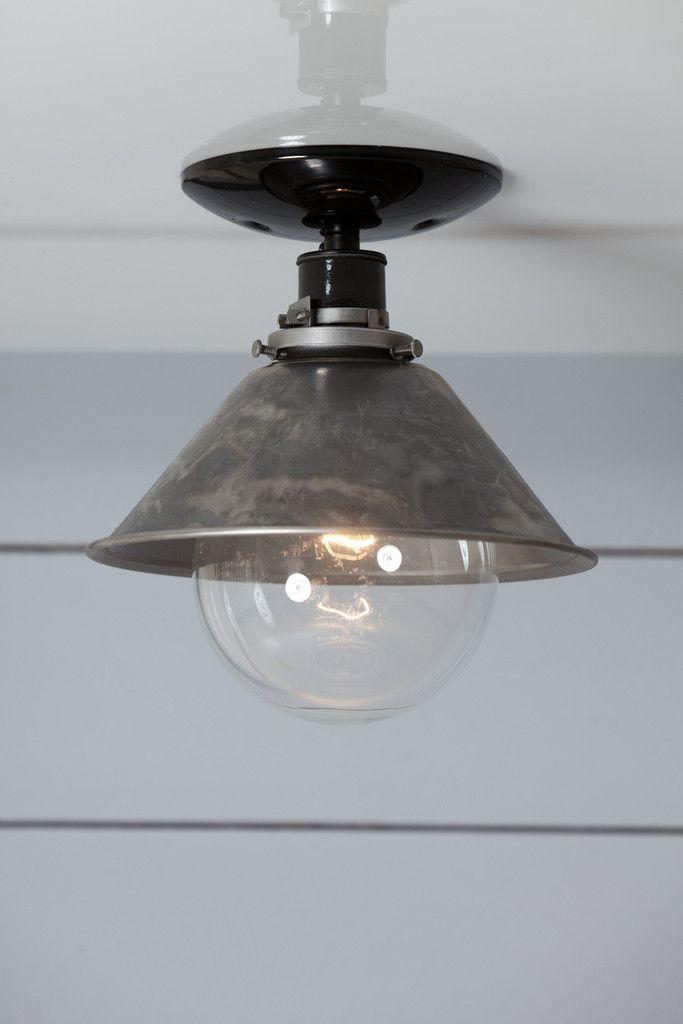 Steel Metal Shade Light   Semi Flush Mount Lamp