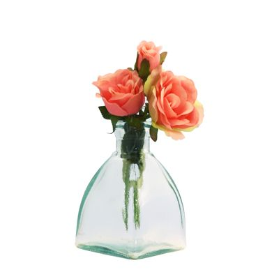 Grehom Recycled Glass Bud Vase - Square Dome