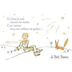 Carte Postale Le Petit Prince Et J Aime La Nuit écouter