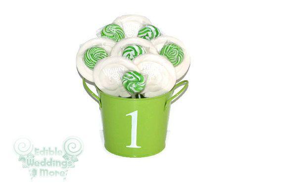 Green and White 1st Birthday... from EdibleWeddings on Wanelo