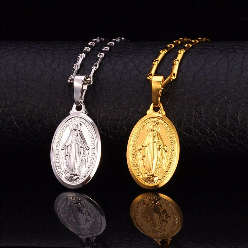 Virgin Mary Necklace New Trendy Platinum/18K Real Gold Plated