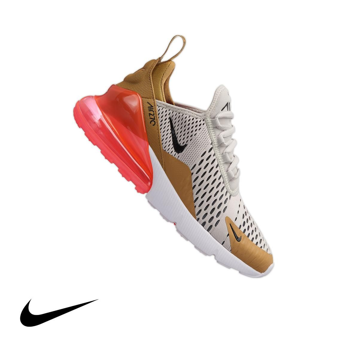 "Nike Air Max 270 ""Gold/Light Bone"" Women's Shoe Nike air"
