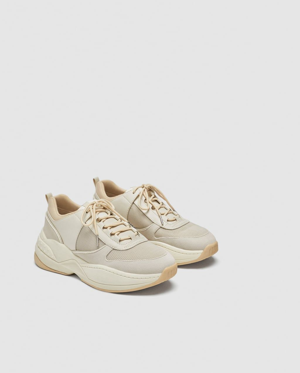 c8f011b4d3812b Image 4 of CONTRASTING MESH SNEAKERS from Zara