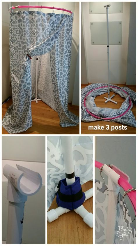 Best DIY free-standing changing tent for dance using Hula hoop, PVC  VY64