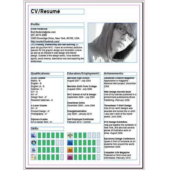 how to create a modern cv  resume with indesign