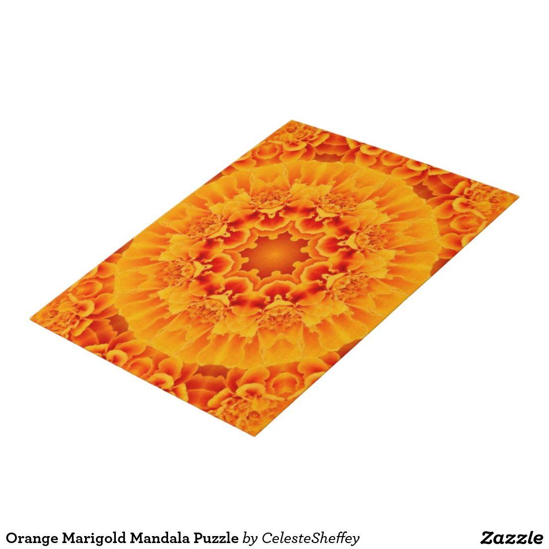 Orange Marigold Mandala Puzzle