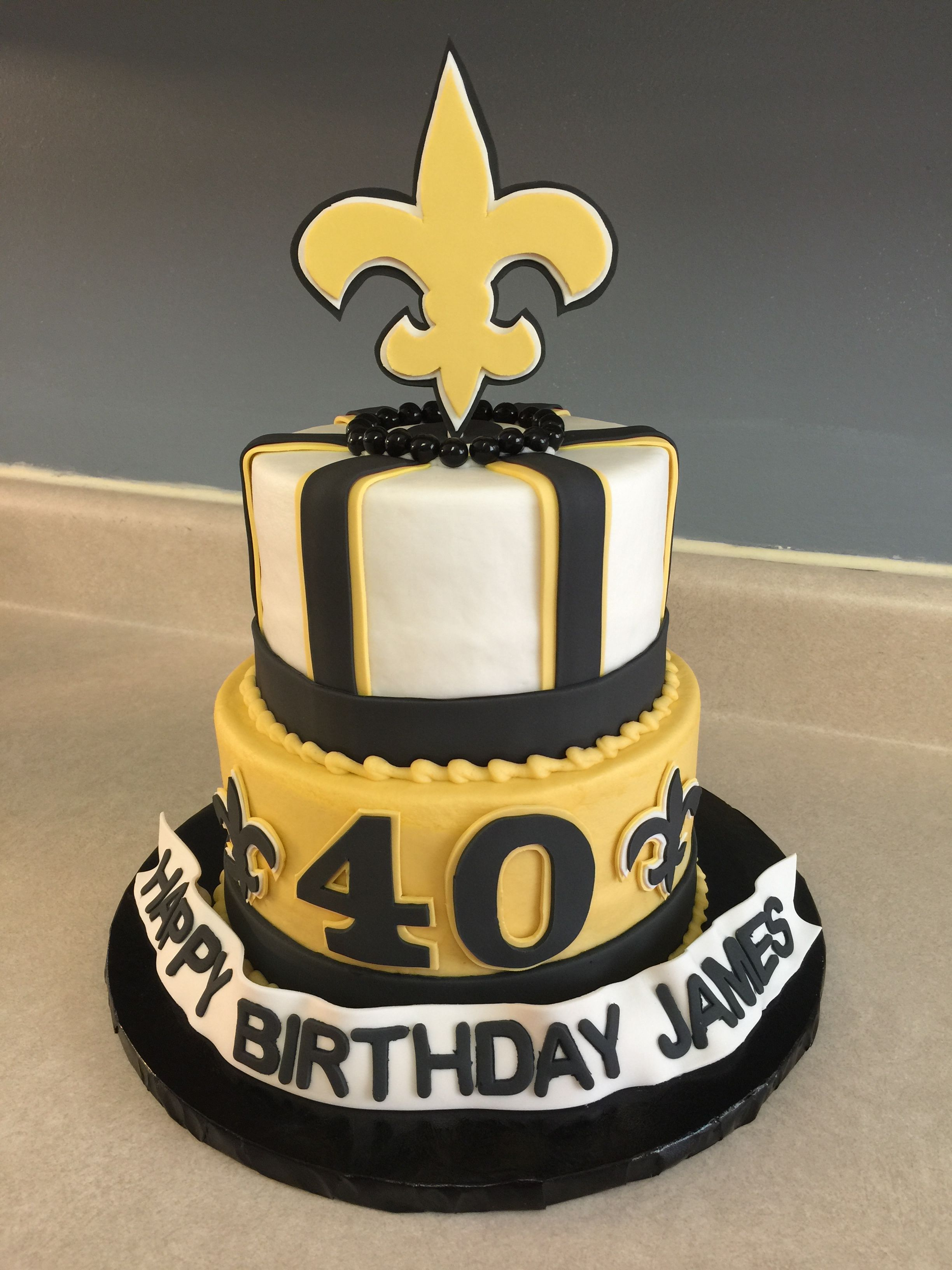 Amazing New Orleans Saints Cake With Images Cake Birthday Cake Personalised Birthday Cards Sponlily Jamesorg