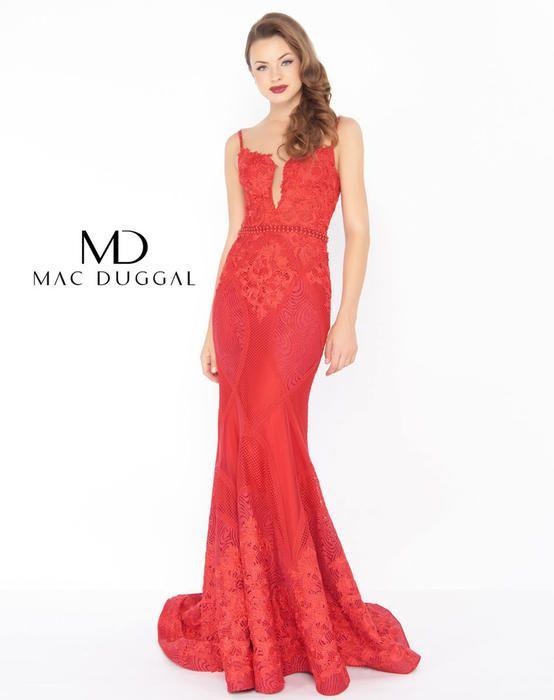 Mac Duggal Black White Red | Lace Prom Dresses 2018 | Pinterest ...