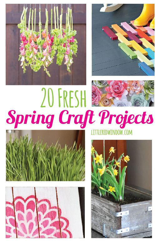 20 fresh spring craft projects do it yourself today pinterest 20 fresh spring craft projects littleredwindow crafts diy spring solutioingenieria Images