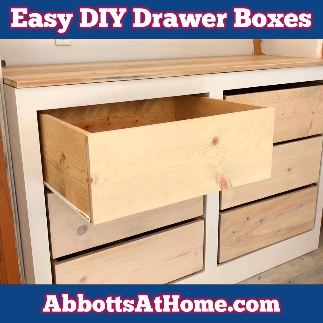 Easy DIY Drawer Boxes - How to Build Simple Drawer Boxes - YouTube