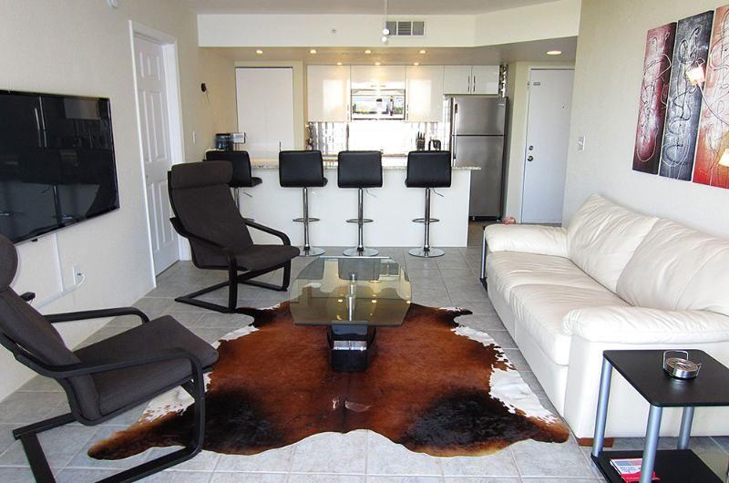 "View from living room to kitchen - Key West Top Floor Condo ""Seaside Breeze"" -Monthly -  - rentals"
