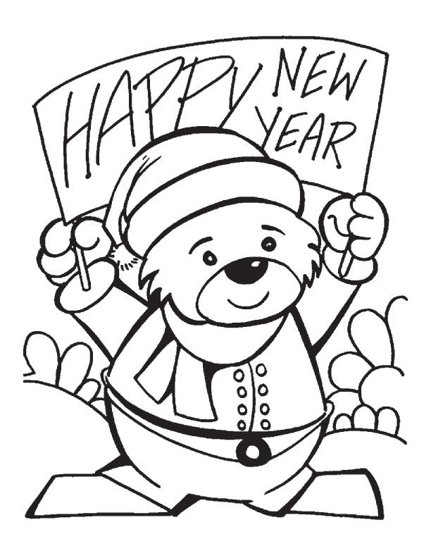 new year's coloring pages  new year coloring page 10