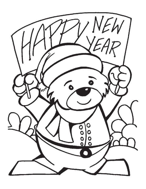 New Year Coloring Page 10 Free Printable New Year Coloring Page 10 Herbst Ausmalvorlagen Weihnachtsmalvorlagen Ausmalbilder