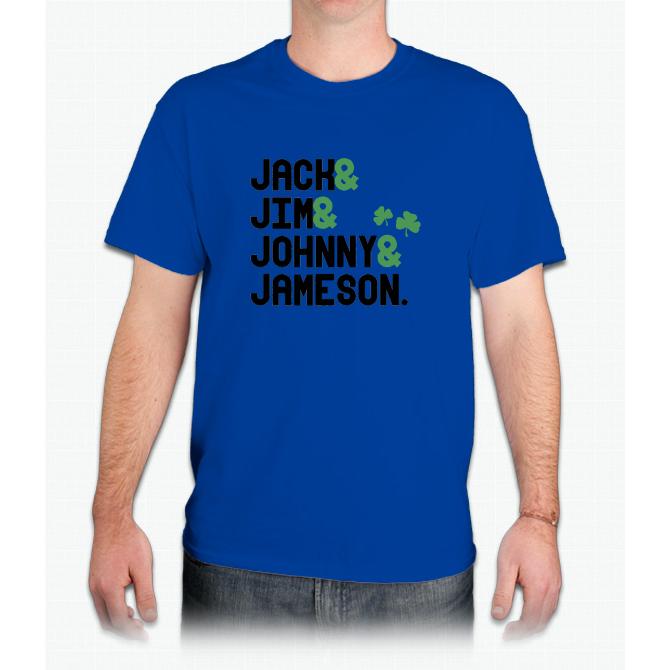 Jack & Jim & Johnny & Jameson - Mens T-Shirt