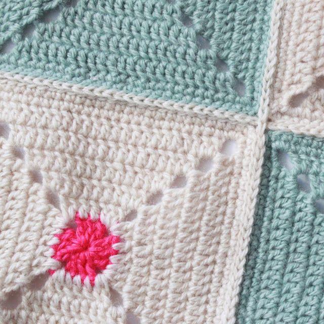 Flad sammenhækling af hæklede lapper | Lutter Idyl | Crochet ...