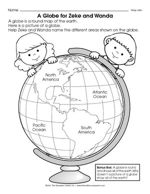 Map And Globe Skills Worksheets Worksheets For School - Studioxcess