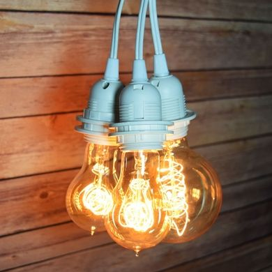 Socket White Pendant Light Lamp Cord