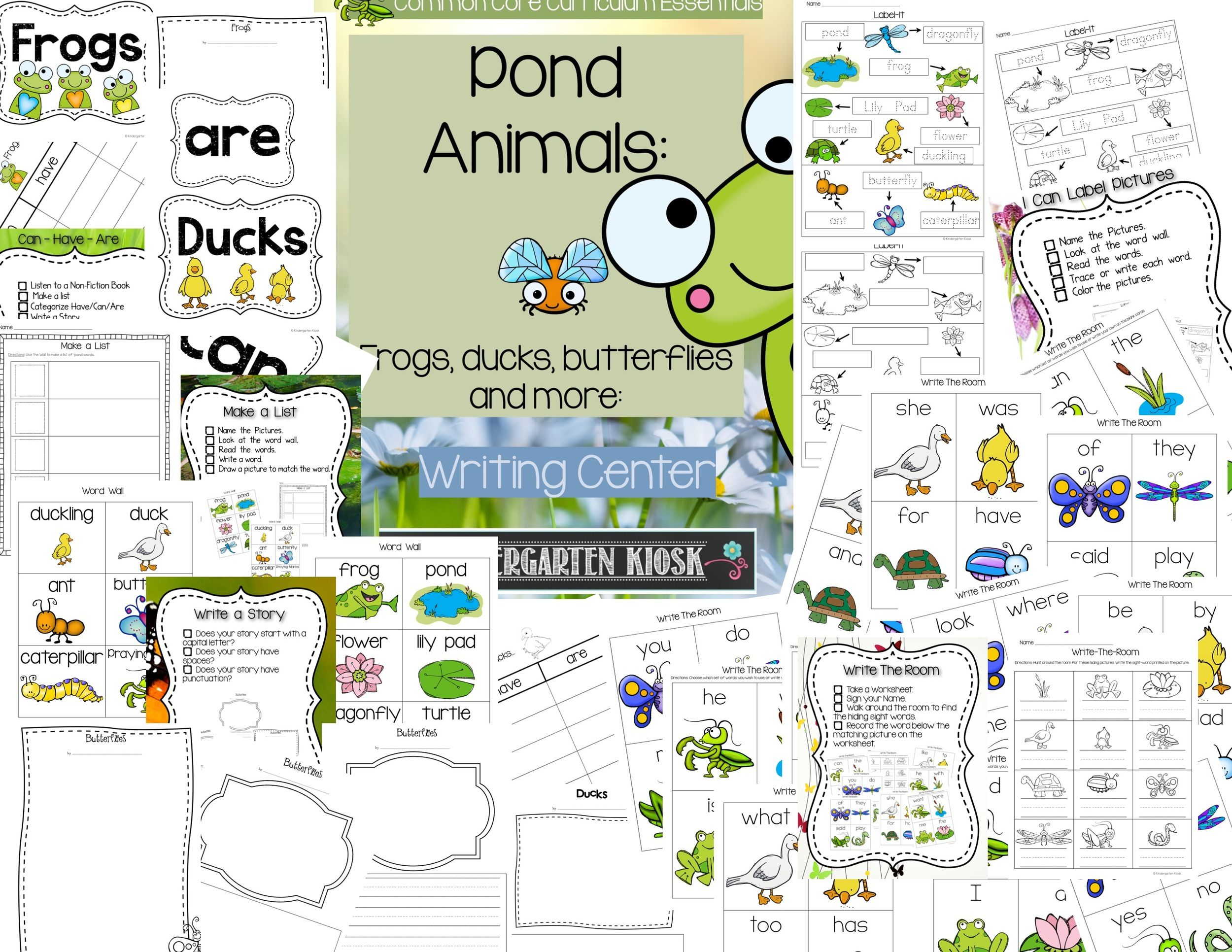 Duck Frog And Pond Writing Center Activities And