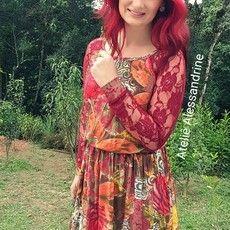 """Vestido Rodado Renda """"Floral"""""""