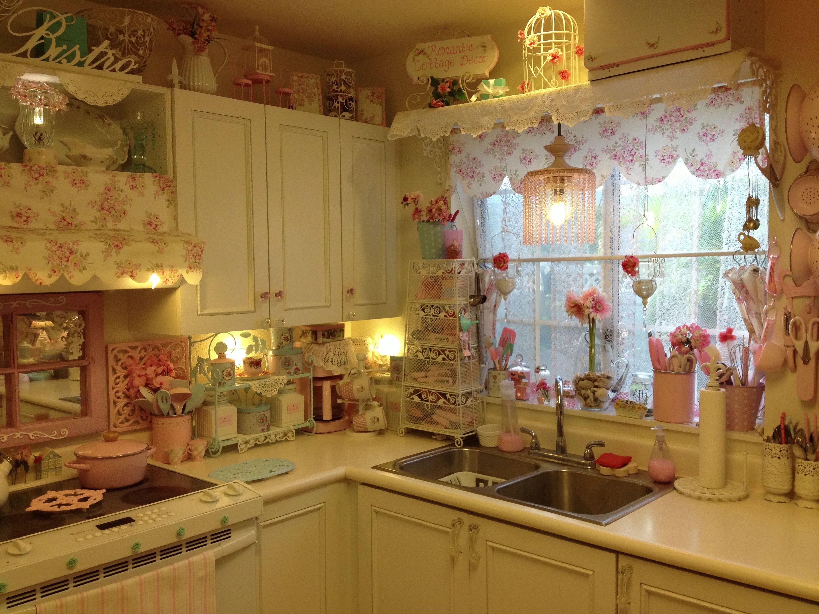 Pink Shabby Chic Kitchen