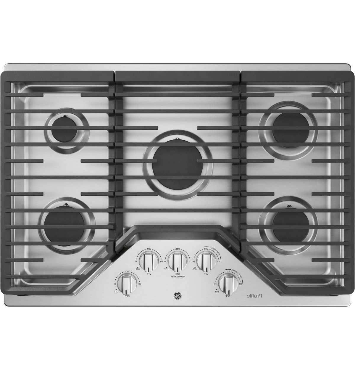 White Electric And Gas Cooktops By Ge