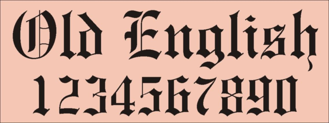 Old English number - Szukaj w Google | Chicano lettering Old English Numbers Printable