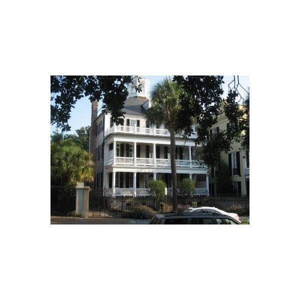 32 South Battery, Historic Charleston, SC Col. John Ashe Home built... ❤ liked on Polyvore