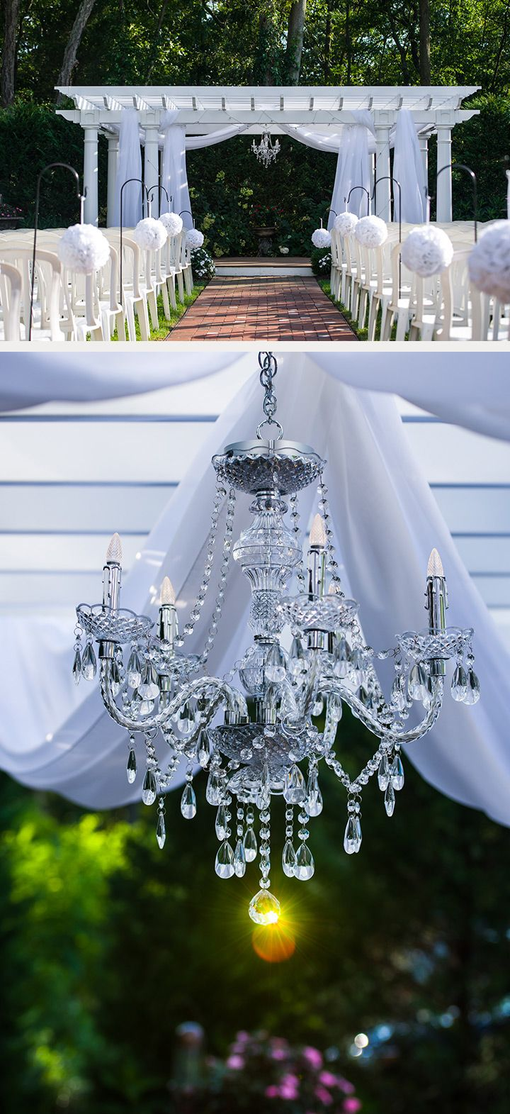 elegant white wedding aisle decor