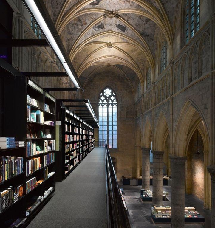 Old Church Converted Into A Modern Bookstore Architecture Modern Dutch Bookstore