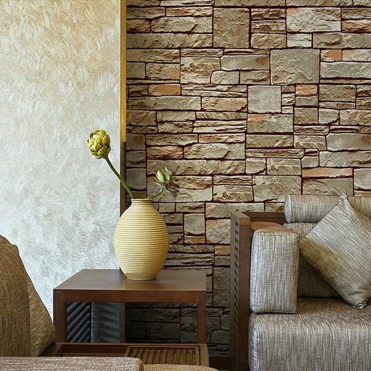 Wandgestaltung aus Stein, kombiniert mit Putz Wohnung Pinterest