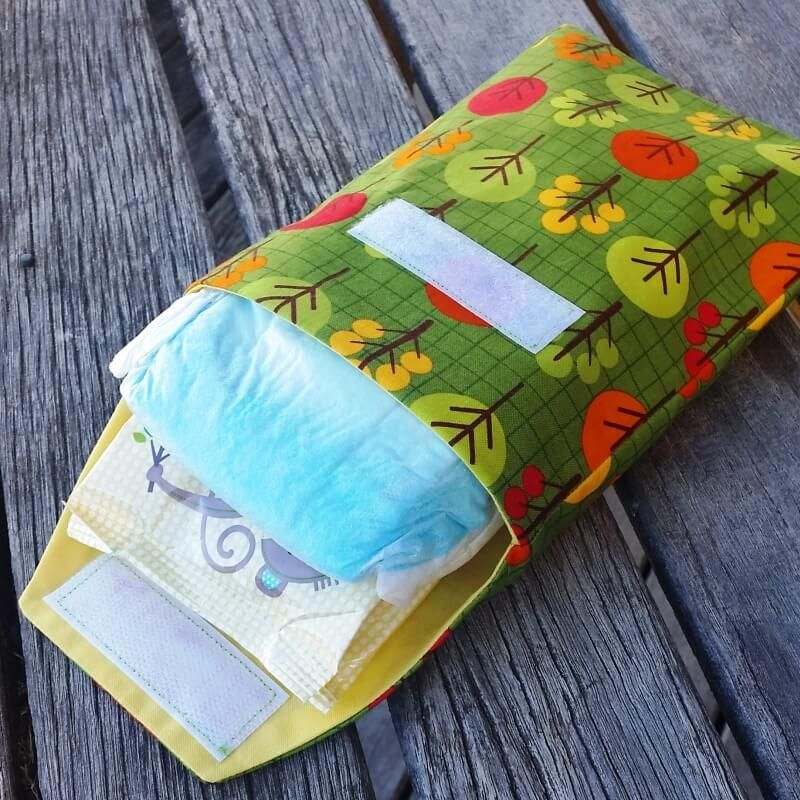 Baby Nappy & Wipes Travel Pouch Diaper bag tutorials