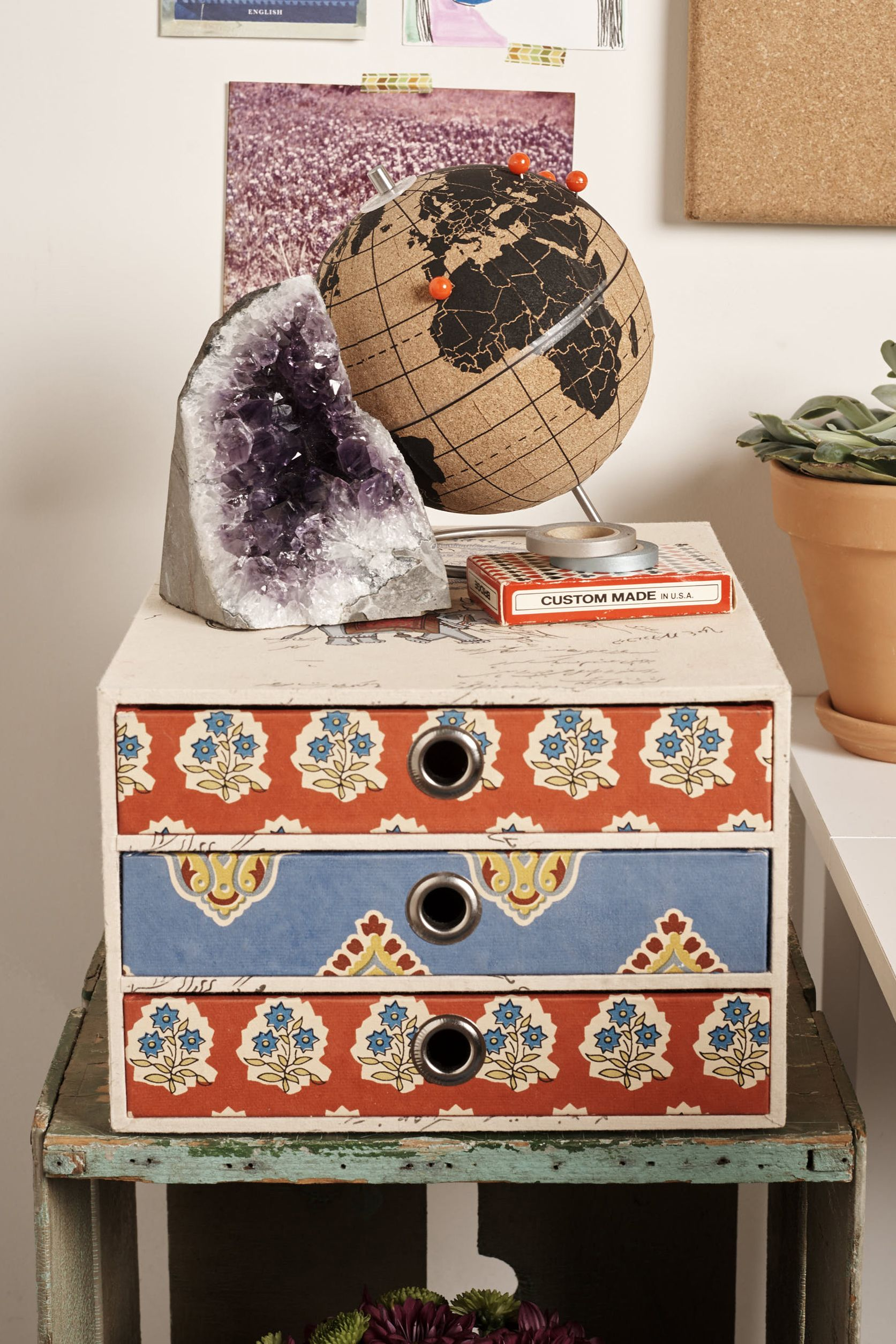 Elephant 3 Drawer Desktop Box - Earthbound Trading Company