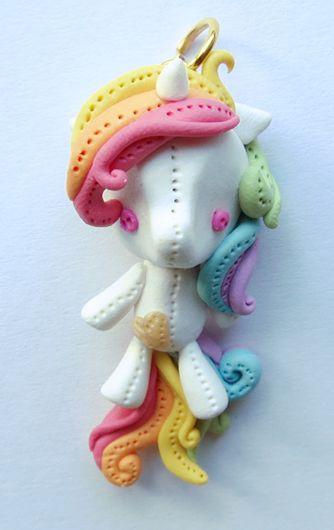 Polymer Clay pony charm