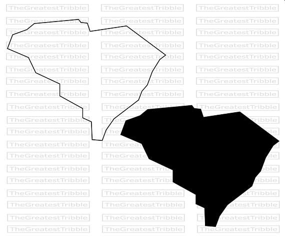 South Carolina State Map Svg Png Jpg Eps Jpeg Vector Graphic Etsy State Map Clip Art State Outline