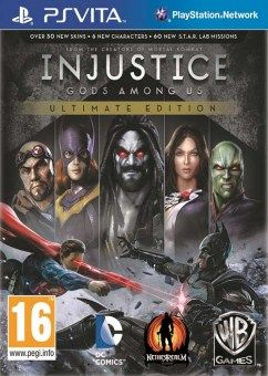 Download Injustice Gods Among Us Ultimate Edition Ps Vita Free Takes Netherrealm Studios Bold New Fighting Game And Enhanc Ps4 Games Injustice Game Reviews