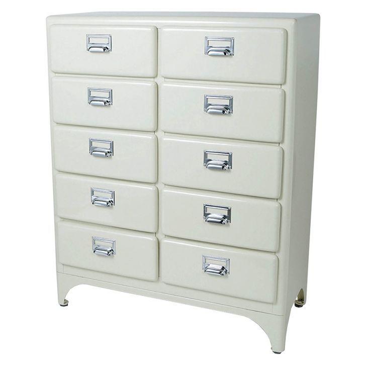 Dulton 2 Column By 5 Drawer Cabinet, Ivory | Zanui.com.au