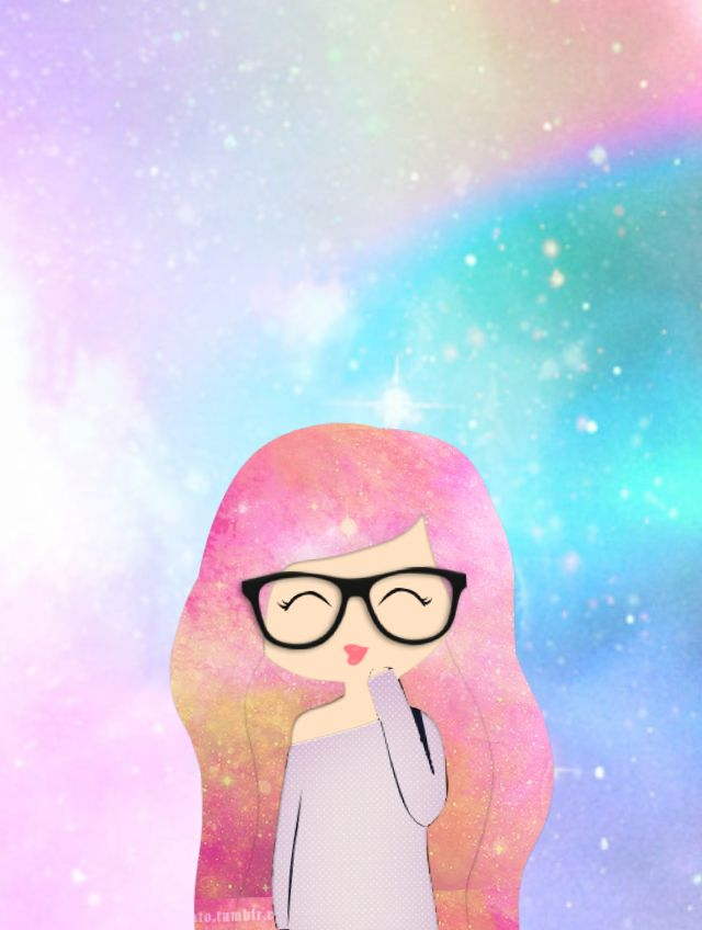 galaxy hipster wallpaper by canellecandy wallpapers
