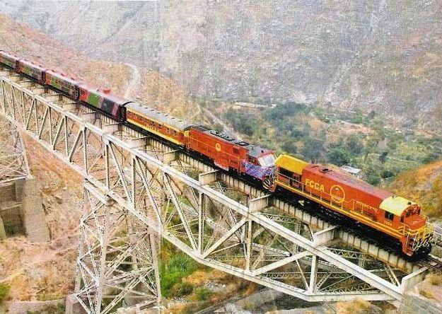 Ruta Tren turístico Ferrocarril Central, Lima - Huancayo,  Perú