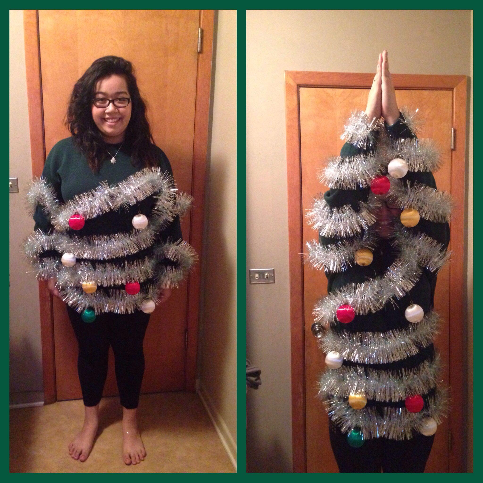 Ugly Christmas sweater party Homemade ugly christmas
