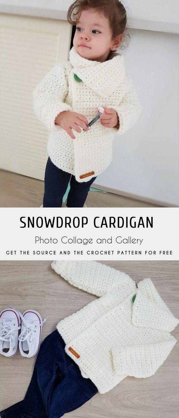 Snowdrop Crochet Cardigan Free Pattern | Crochet/Knit | Pinterest ...