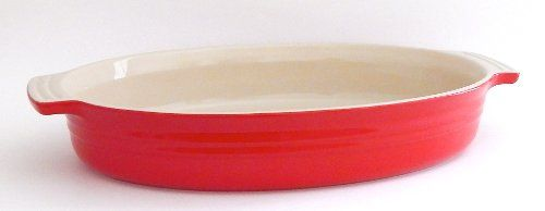 Le Creuset Poterie Stoneware 14 Inch Oval Baking Dish Chili Red Best Value Buy On Amazon Lecreuset Baked Dishes Chili Red Stoneware Le creuset oval baking dish