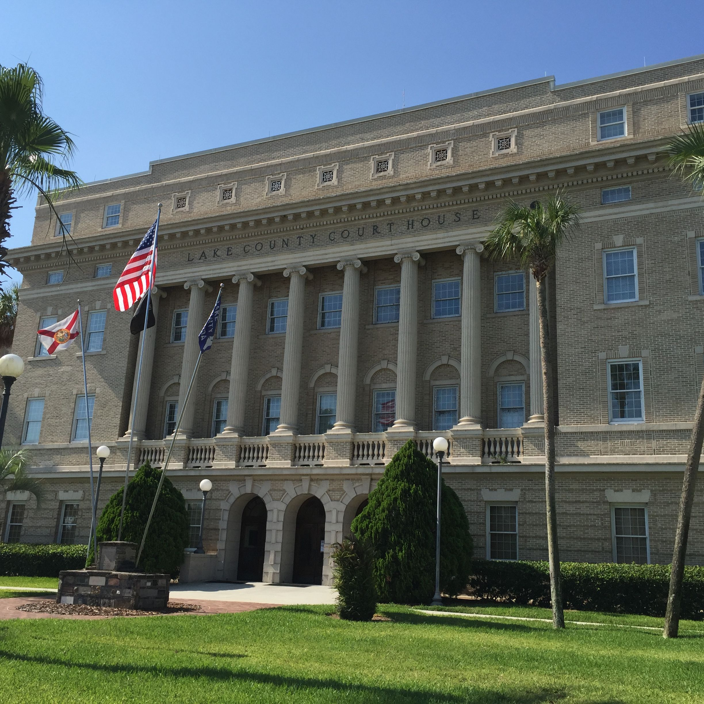 Old Lake County Courthouse in Tavares, Florida. Built in