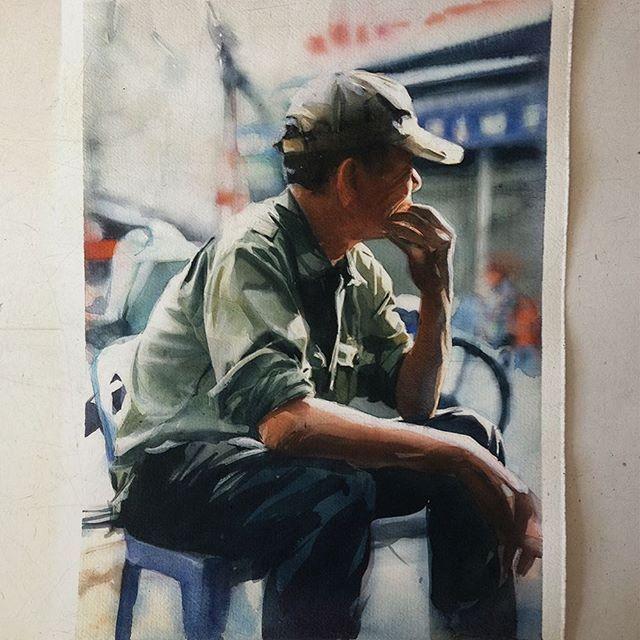 Terça-feira, #aquarela #watercolor 26x36 cm.