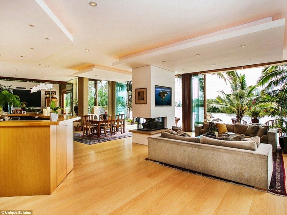The Gold Coast property also contains an entertaining wing with a 12-seat dining table, a bar and sitting area, a gym, sauna, salt-water pool, heated spa, and a BBQ kitchen with a butler's pantry and coolroom