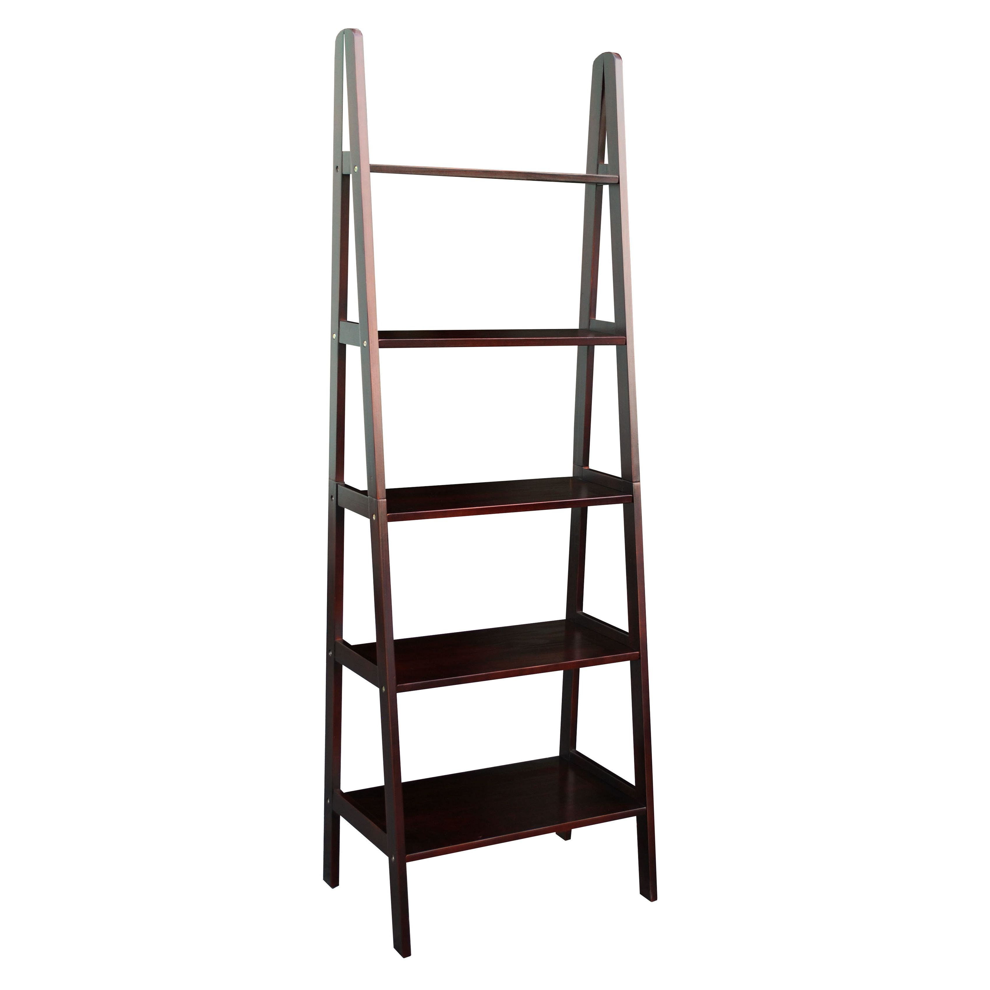 tier leaning bookcases espresso x of mainstays shelf lovely bookcase ladder photo walmart
