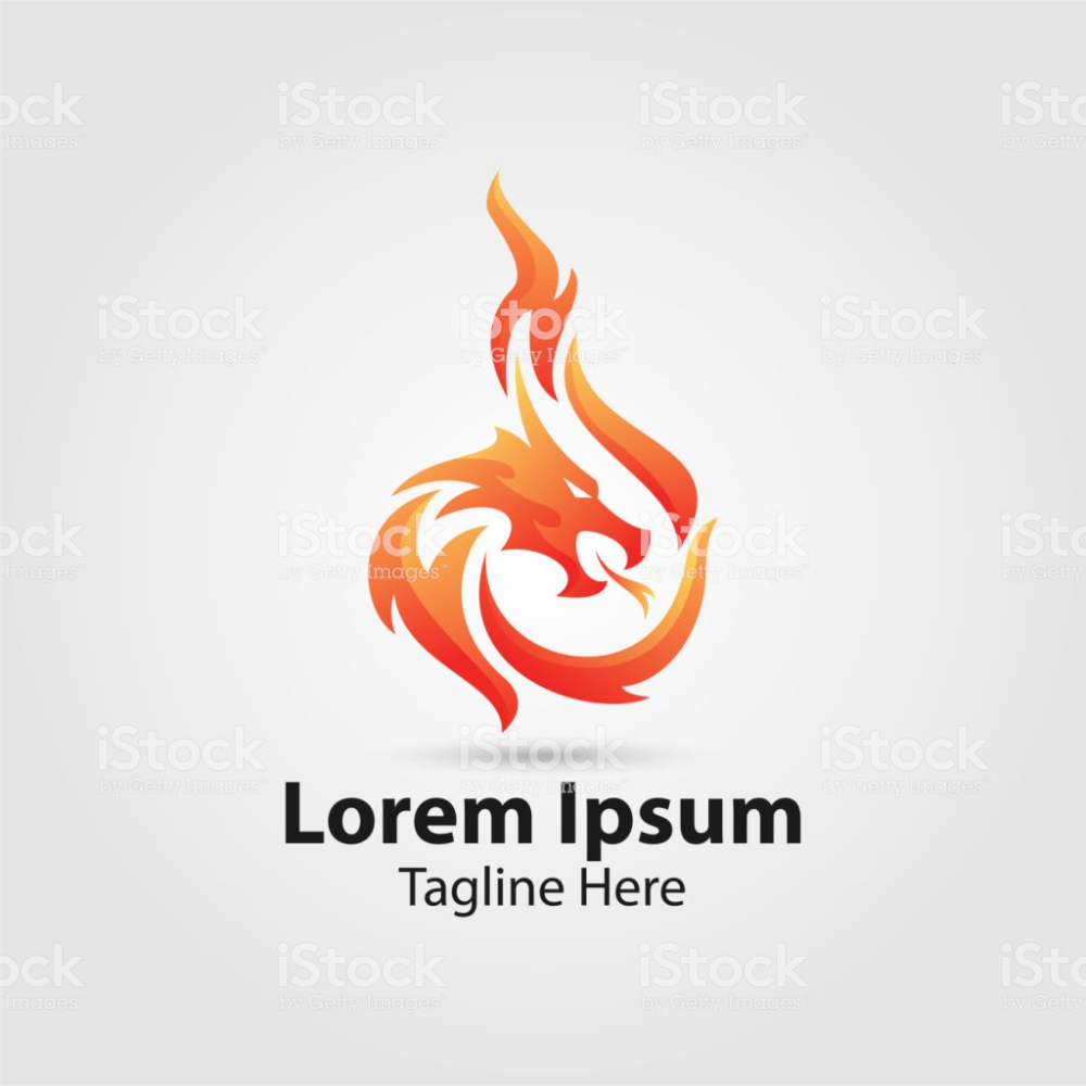 Dragon Fire Vector Logo Chinese Culture Symbol Fire Vector Vector Logo Fire Dragon