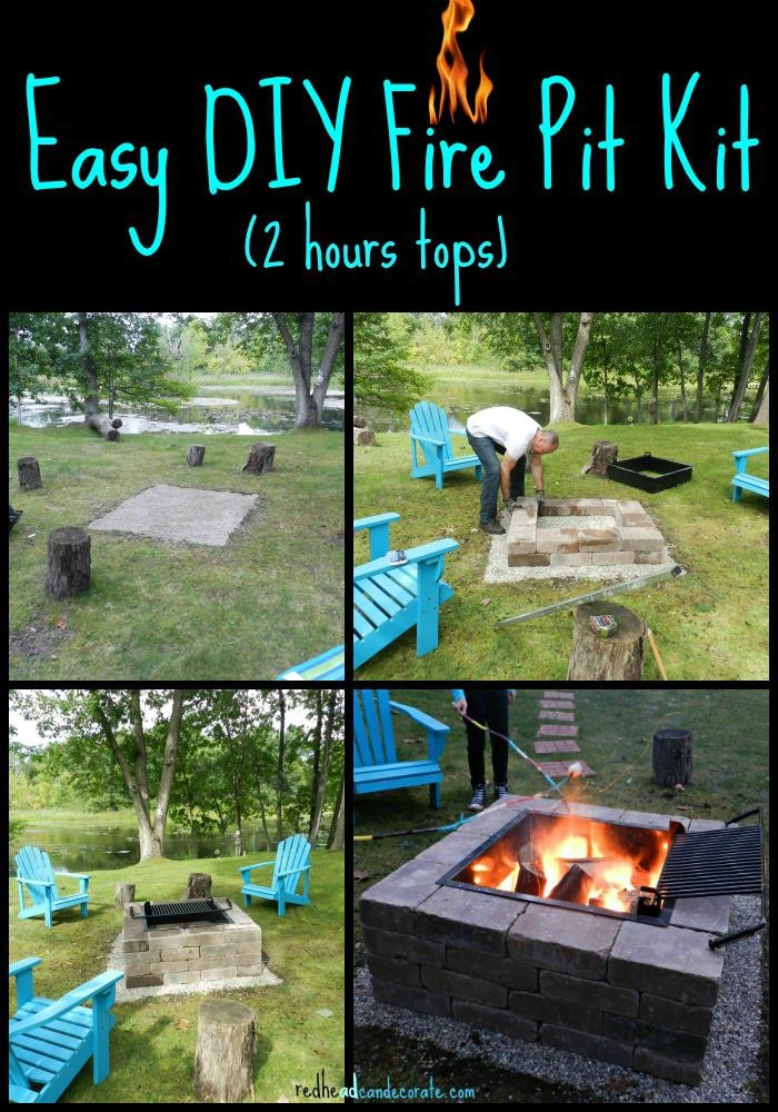 - Easy DIY Fire Pit Kit With Grill Diy Fire Pit, Backyard And Yards